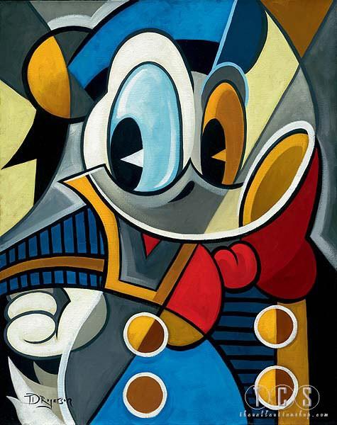 Tim RogersonCubist QuackHand-Embellished Giclee on Canvas