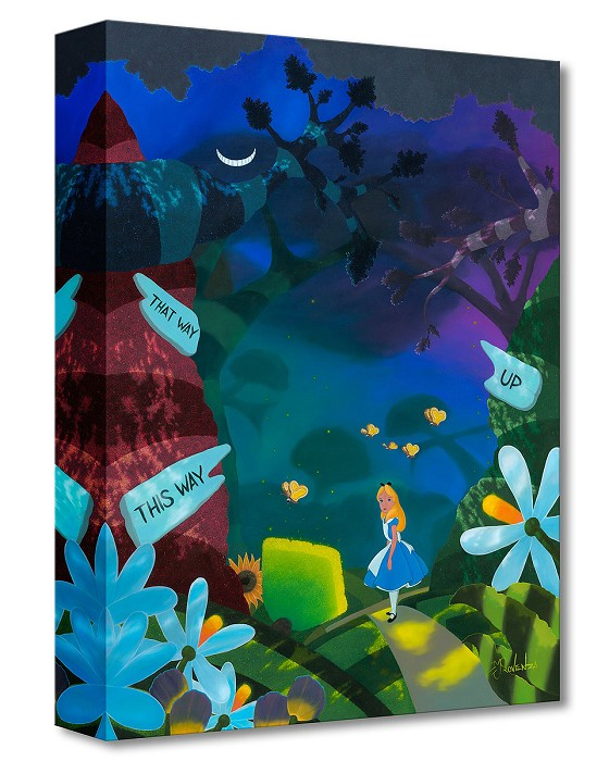 Michael Prozenza Curiouser From Alice In Wonderland Gallery Wrapped Giclee On Canvas