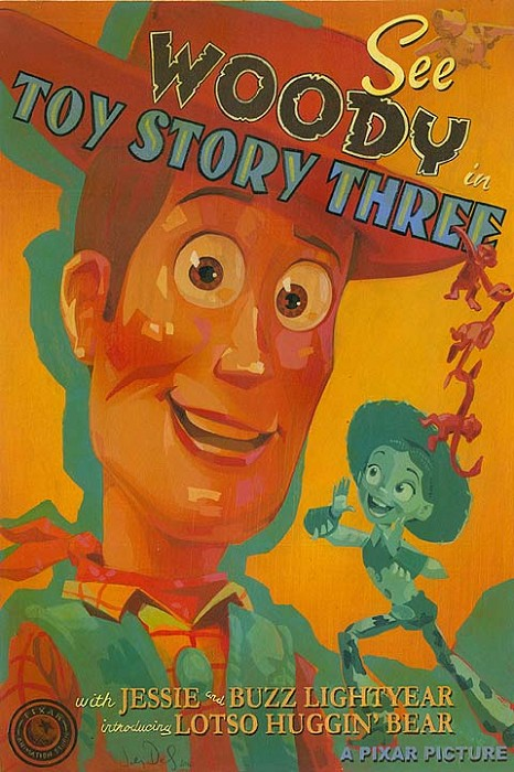 Jody Daily See Woody in Toy Story 3 Petite Edition Giclee On Canvas