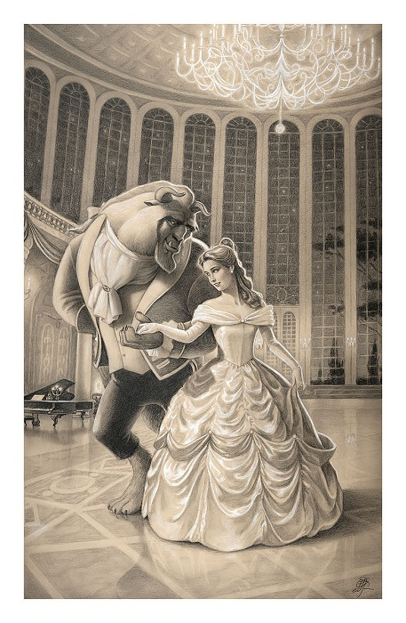 Edson Campos A Dance with Beauty From Beauty and the Beast Giclee On Paper