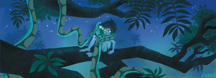 Daniel Arriaga Trust In Me - From Disney The Jungle Book Giclee On Canvas