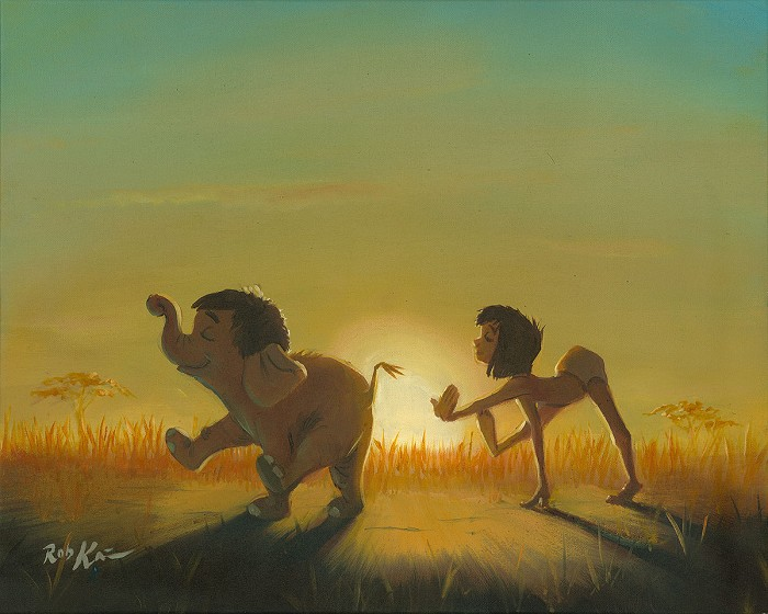 Rob Kaz  The Dawn Patrol Original From The Movie The Jungle Book Original Oil on Canvas