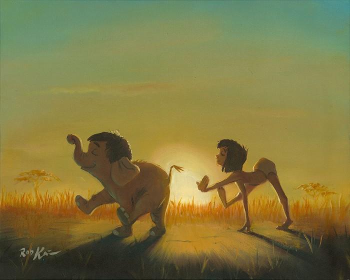 Rob Kaz The Dawn Patrol Original From The Movie The Jungle BookOriginal Oil on Canvas