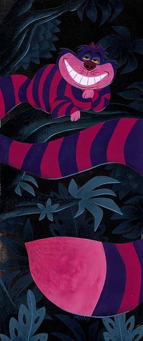 Daniel ArriagaWide Grin - From Disney Alice in WonderlandGiclee On Canvas