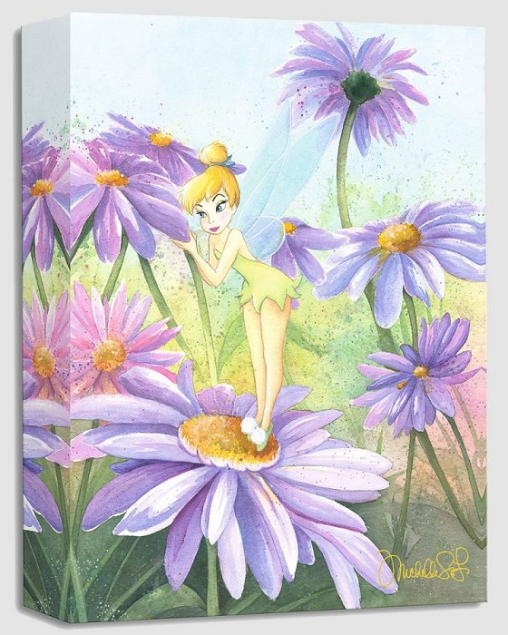 Michelle St Laurent Delicate Petals From Peter Pan Gallery Wrapped Giclee On Canvas