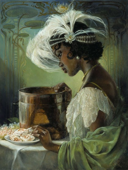 Heather EdwardsDig a Little Deeper Tiana From The Princess And The FrogHand-Embellished Giclee on Canvas