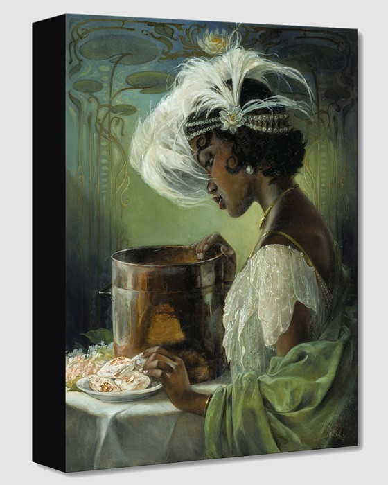 Heather Edwards Dig a Little Deeper Tiana From The Princess And The Frog Gallery Wrapped Giclee On Canvas