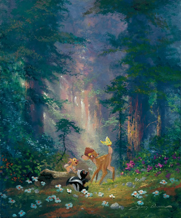 James Coleman Discovery From Bambi Original Acylic on Canvas