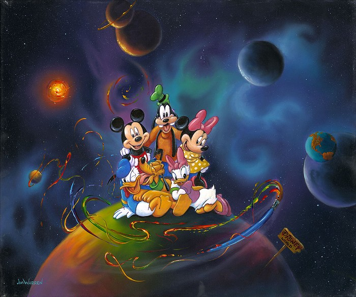 Jim Warren Disney World Giclee On Canvas