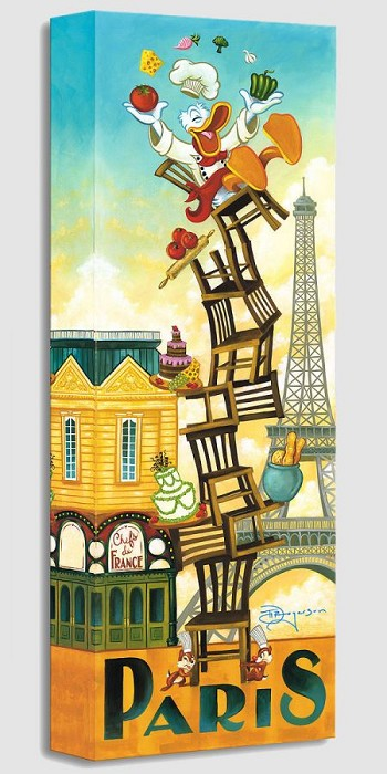 Tim Rogerson Donald's Paris From Donald Duck Gallery Wrapped Giclee On Canvas