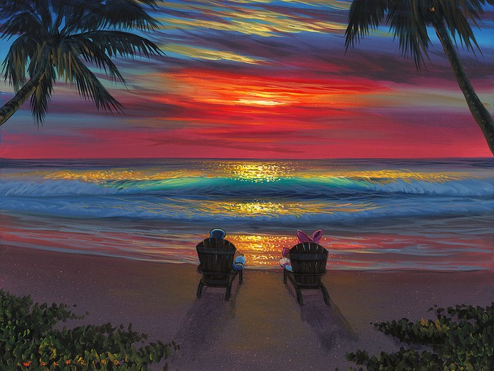 Walfrido GarciaDonald and Daisys Perfect Sunset Gallery WrappedHand-Embellished Giclee on Canvas