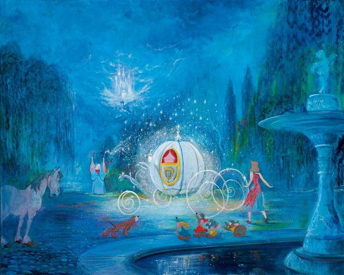 Harrison Ellenshaw A Dream Is A Wish Your Heart Makes Cinderella Hand-Embellished Giclee on Canvas