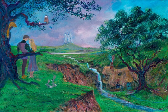 Peter / Harrison Ellenshaw Once Upon A Dream Cinderella Giclee On Canvas