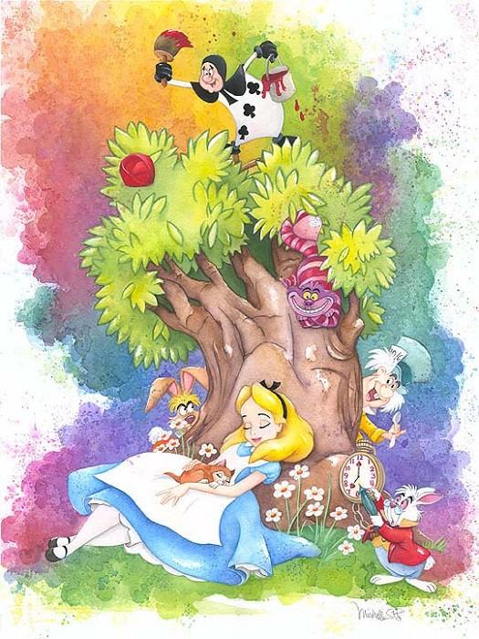 Michelle St LaurentDreaming - From Disney Alice in WonderlandHand-Embellished Giclee on Canvas