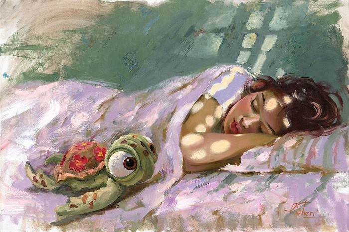 Irene SheriDreaming of the ReefHand-Embellished Giclee on Canvas