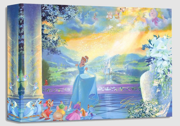 John Rowe The Life She Dreams Of - From Disney Cinderella Gallery Wrapped Giclee On Canvas