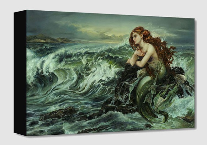 Heather Theurer Drawn to the Shore From The Little Mermaid Gallery Wrapped Giclee On Canvas