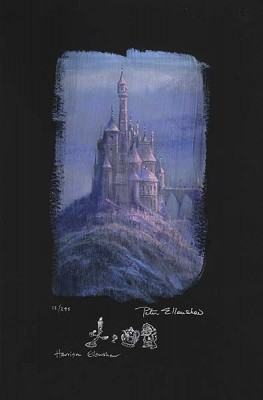 Peter / Harrison Ellenshaw Beauty And The Beast Castle Giclee On Paper