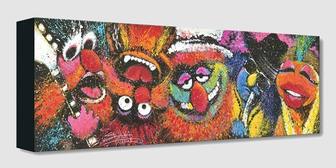Stephen Fishwick Electric Mayhem From The Muppets Gallery Wrapped Giclee On Canvas