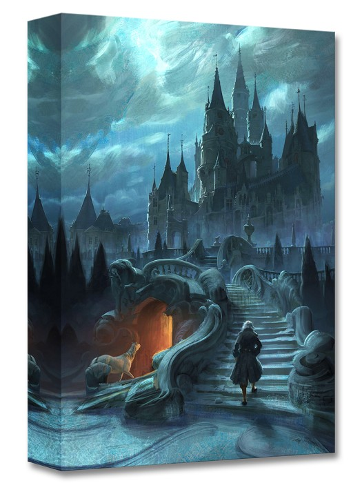 Disney Concepts Castle Exterior Approach Gallery Wrapped Giclee On Canvas