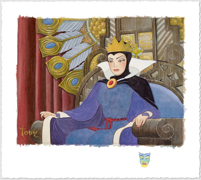Toby Bluth Face Of Evil Snow White Evil Queen Giclee On Paper