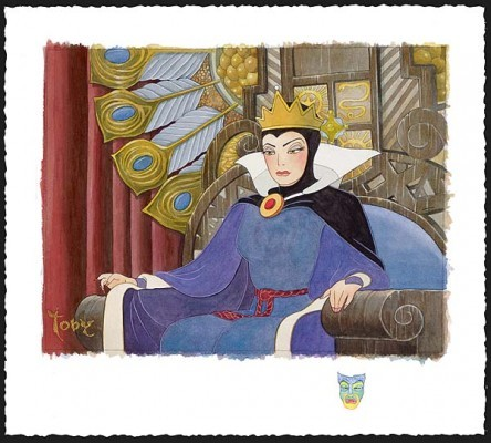 Toby Bluth Face Of Evil Deluxe Snow White Evil Queen Giclee On Paper