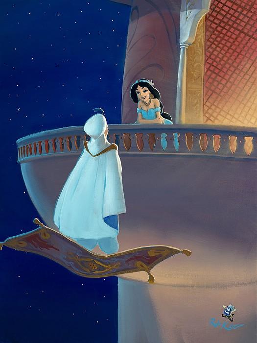 Rob Kaz Falling for AladdinHand-Embellished Giclee on Canvas