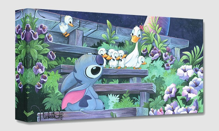 Michelle St Laurent Family Blossoms From Lilo And Stitch Gallery Wrapped Giclee On Canvas