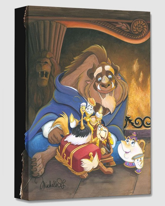 Michelle St Laurent Family of Enchanted Things From Beauty And The Beast Gallery Wrapped Giclee On Canvas
