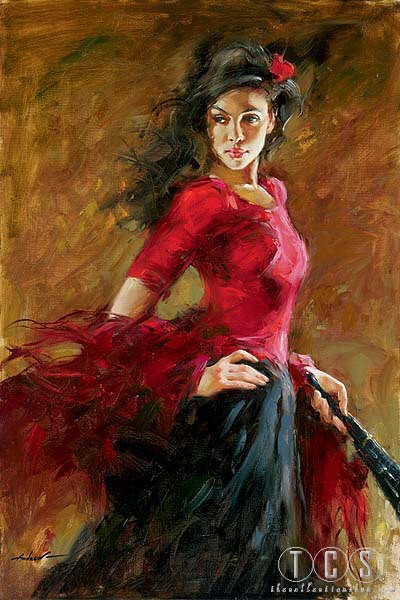 Andrew Atroshenko Fan Dancer
