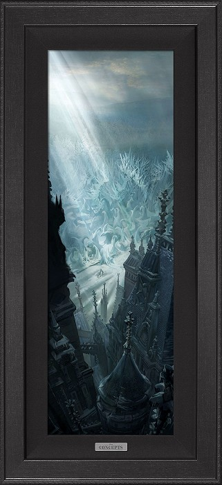 Disney ConceptsEntering the Castle Grounds FramedGiclee On Canvas