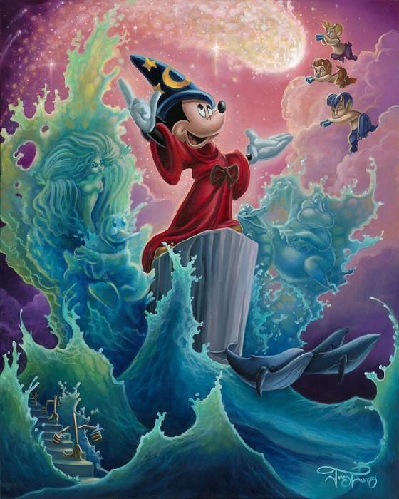 Jared FrancoThe Sorcerer's FinaleHand-Embellished Giclee on Canvas