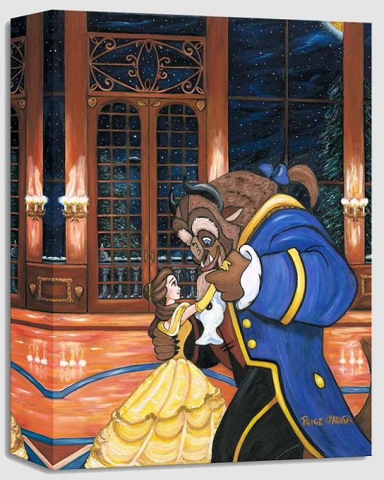 Paige O Hara First Dance - From Disney Beauty and The Beast Gallery Wrapped Giclee On Canvas