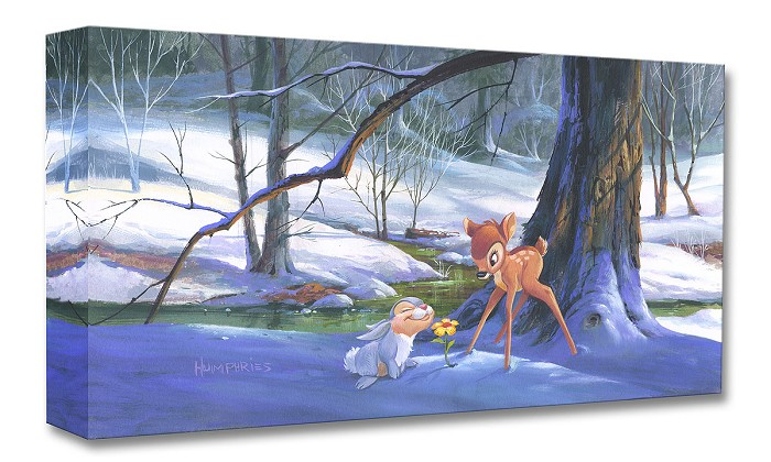 Michael Humphries First Hint of Spring From Bambi Gallery Wrapped Giclee On Canvas