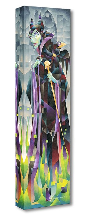 Tom Matousek Flames of Maleficent From Sleeping Beauty Gallery Wrapped Giclee On Canvas