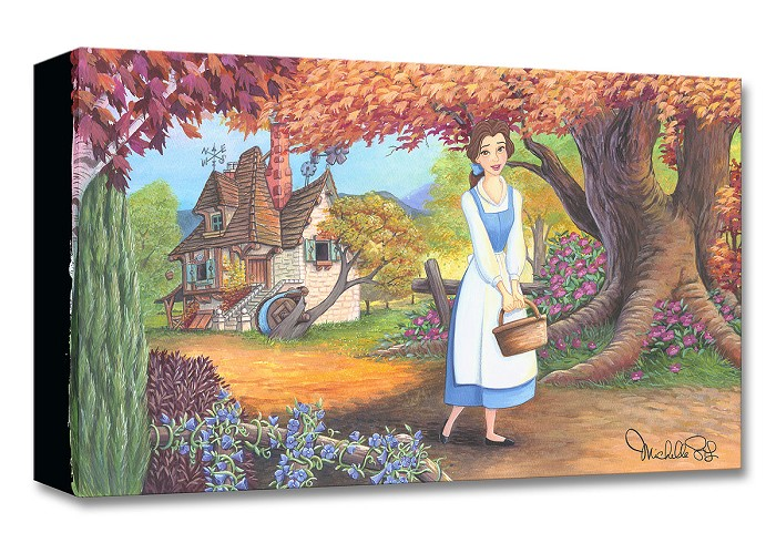 Michelle St Laurent The Flowery Path From Cinderella Gallery Wrapped Giclee On Canvas