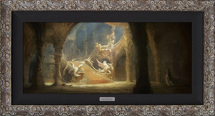 Disney Concepts Morning Light in the Palace Framed Giclee On Canvas