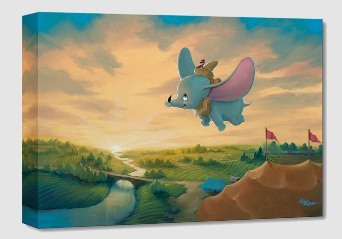 Rob Kaz  Flight Over the Big Top From Dumbo Gallery Wrapped Giclee On Canvas