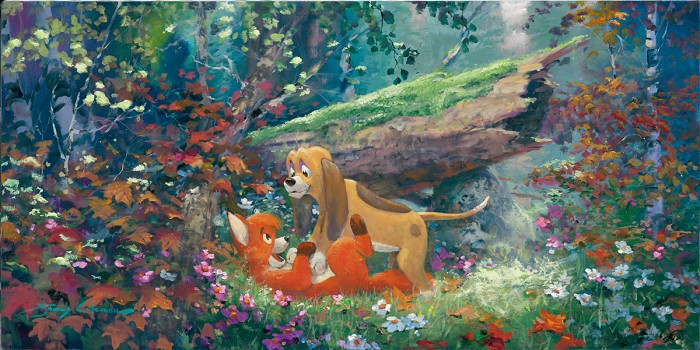 James Coleman Fox And The Hound Giclee On Canvas