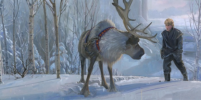 Jim Salvati Epic Journey From The Movie Frozen Hand-Embellished Giclee on Canvas