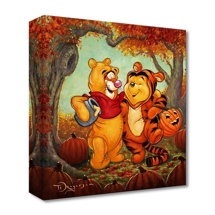 Tim Rogerson Friendship Masquerade From Winnie the Pooh Gallery Wrapped Giclee On Canvas