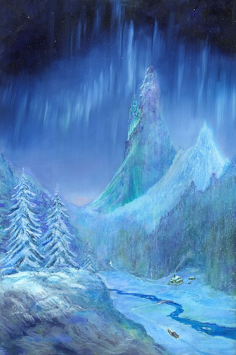 Harrison EllenshawFrozen Sky From The Movie FrozenOriginal Acylic on Canvas
