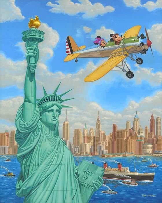 Manuel HernandezFreedom FlightHand-Embellished Giclee on Canvas