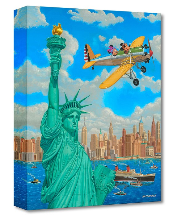 Manuel Hernandez Freedom Flight Gallery Wrapped Giclee On Canvas