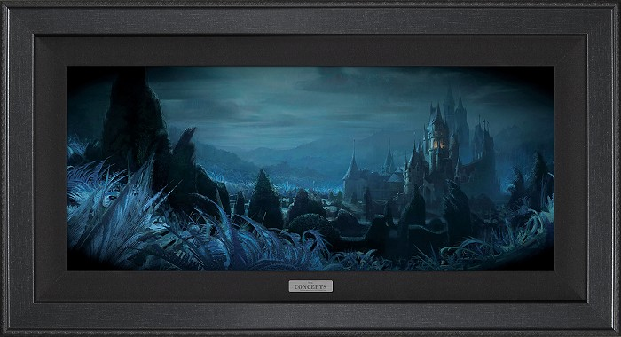 Disney Concepts Shadows of Beast's Castle Unframed Giclee On Canvas