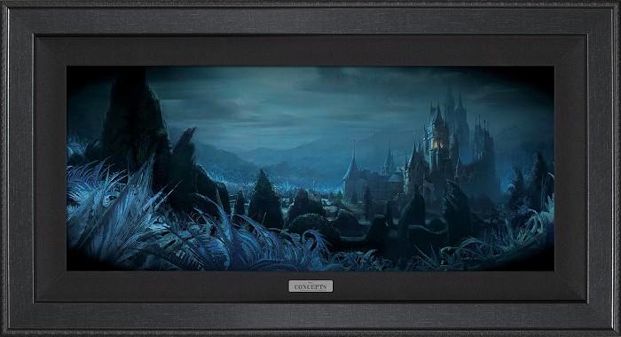 Disney ConceptsShadows of Beast's Castle FramedGiclee On Canvas