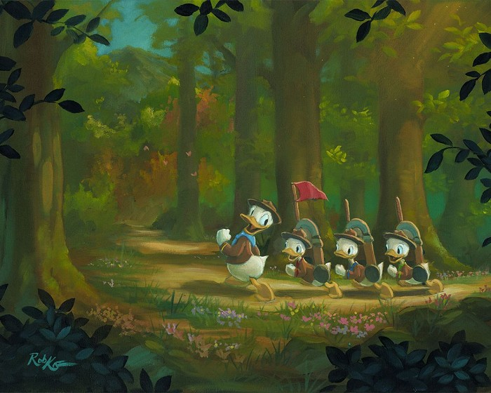Rob Kaz The Good ScoutsHand-Embellished Giclee on Canvas