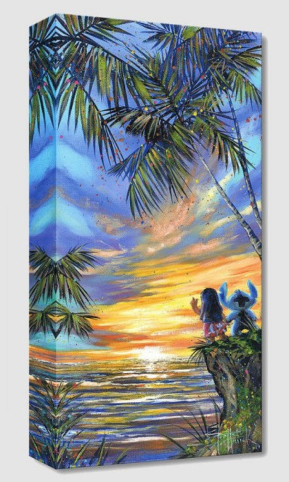 Stephen Fishwick Goodbye to the Sun From Lilo And Stitch Gallery Wrapped Giclee On Canvas