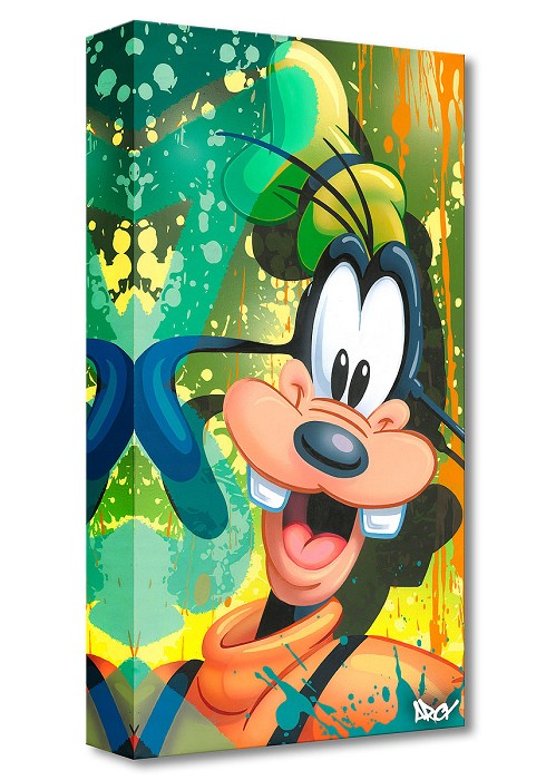 Arcy Goofy Gallery Wrapped Giclee On Canvas