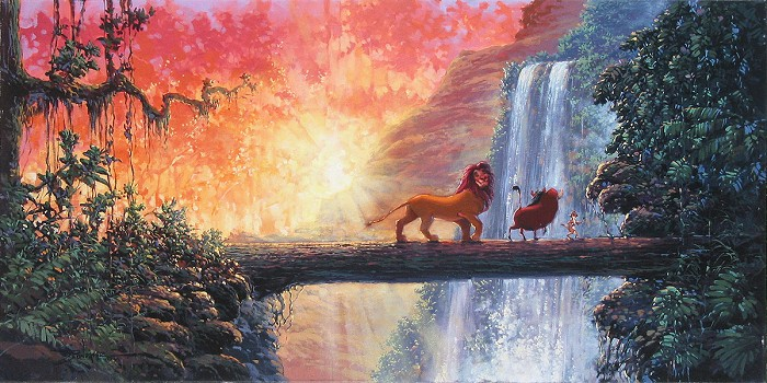 Rodel Gonzalez Hakuna Matata - From Disney The Lion King  Hand-Embellished Giclee on Canvas